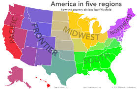 Map The Usa by Oc The Usa In Five Regions 1280 831 Mapporn