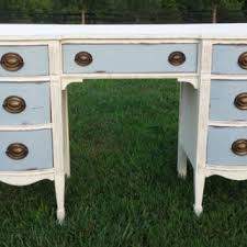 Upcycled Vanity Table Annie Sloan Chalk Painted Bow Front From Newbeginningsdecor On