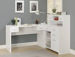 White L Shaped Desks Monarch Hollow L Shaped Home Office Desk White