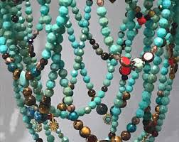 Beaded Turquoise Chandelier Beaded Chandelier Etsy