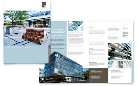 architect brochure template word u0026 publisher