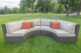 Curved Patio Sofa Photo Gallery Of Curved Outdoor Sofa Viewing 8 Of 25 Photos