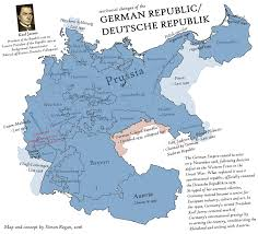 Germany On Map by Weimar Forever An Alternate History Map By Sregan Deviantart Com