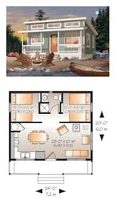 Two Bedroom House Plans With Loft Tiny House Plan 76166 Total Living Area 480 Sq Ft 2 Bedrooms