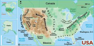 map us landforms landforms of the united states of america and usa landforms map