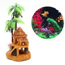 shop aquarium simulation coconut tree castle fish tank