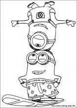 minion coloring pages exprimartdesign