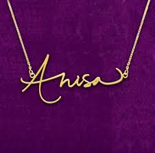 14 karat gold nameplate necklaces 101 best name plate jewelry images on name necklace