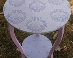Pink Nightstand Side Table Pink Side Table Etsy