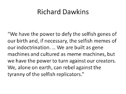The Selfish Meme - gresham college divinity lecture 5 religion morality and meaning
