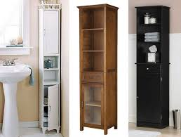 bathroom tall linen cabinet with hamper bath tower cabinet oak