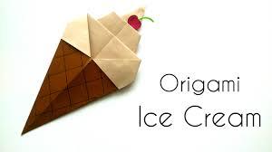origami ice cream cone origami for kids paper ice cream cone
