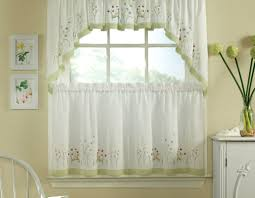 curtains valance curtains for kitchen with decor wonderful