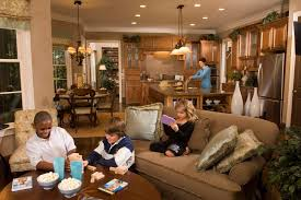 Open Kitchen Family Room Layout  Top Small Family Room Open To - Kitchen family room layout ideas
