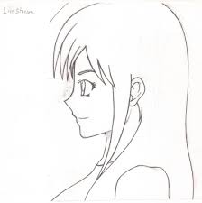 anime face side profile how to draw girls anime hair and hair