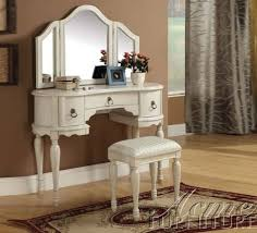 Bobkona St Croix Collection Vanity Set With Stool White Vanity Sets Shabby Chic