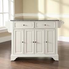 kitchen island granite top darby home co abbate kitchen island with granite top reviews