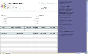 Sales Invoice Template Excel General Sales Invoice Template Invoice Software