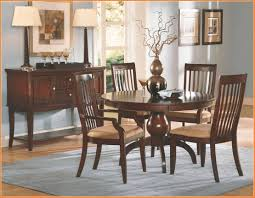 round cherry wood dining table tall kitchen brown varnishes