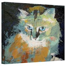 andover mills himalayan cat painting print on wrapped canvas