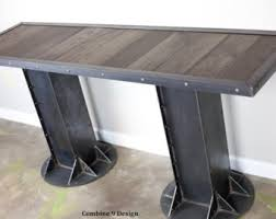 Industrial Looking Desk by Steel Industrial Table Reclaimed Wood Avail Unique