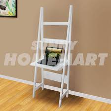 new white 3 tier wooden desk ladder shelf french style book dvd