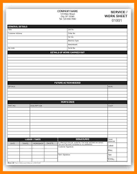 sample job sheetwork order template service order template