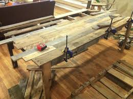 Build A Dining Room Table The Shipping Pallet Dining Table Little Paths So Startled
