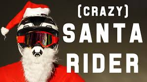 motocross freestyle riders crazy santa rider freestyle ice drifting and miss santa