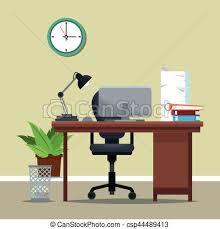 equipement bureau équipement chaise bureau lieu travail horloge 10 clipart