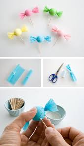 candy cupcake topper in crafts for decorating and home decor