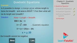 quadratic equations class 10 mathematics youtube