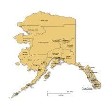 alaska major cities map alaska counties major cities powerpoint map maps for powerpoint