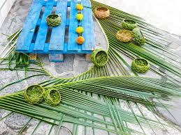 Wicker Vases Caribbean Souvenirs Wicker Vases Of Palm Leaves Handmade Work
