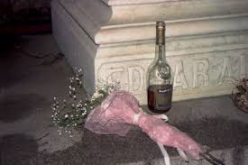 Poe Toaster Very Rare Photo Of Roses And Cognac Left By Mysterious Str U2026 Flickr