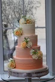 peach ombre wedding cake peach ombre butter cream le papillon patisserie