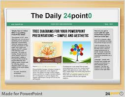 using editable newspaper powerpoint template in business presentations