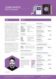 Flat Resume Design Creative Resume Cv By Ikonome Graphicriver