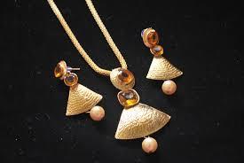 necklace pendant designs gold images Artificial designer gold pendant set reeti fashions jewellery jpg