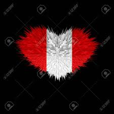 Stock Feather Flags The Heart Of Peru Flag Abstract Background Stock Photo Picture