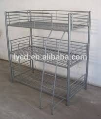 Three Person Bunk Bed 3 Layers Steel Bunk Bed Three Person Bunk Bed Metal Bunk