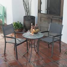 belham living whitney sling chair and stone table patio bistro set