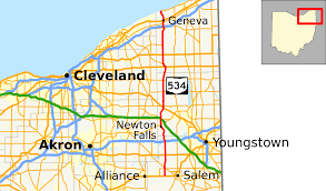 Map Cleveland Ohio by Ohio State Route 534 Wikipedia
