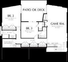 Floor Layout by Mascord House Plan 1330 The Cormac