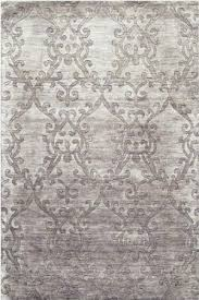 Damask Kitchen Rug Amazon Com Daniella Area Rug 5 U0027x8 U0027 Silver Home U0026 Kitchen