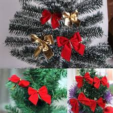 12pcs tree bow decoration baubles new year ornaments