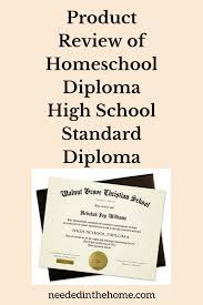 homeschool graduation announcements product review of homeschool diploma high school standard diploma
