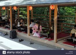 Japanese Style Pergola by Japanese Style Restaurant At Kiyomizu Dera Temple Kyoto Japan