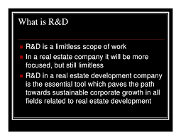 research u0026 development r u0026d in real estate