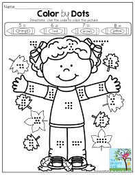 Preschool Halloween Printables by Color By Dots Great For One To One Correspondence And Color Words